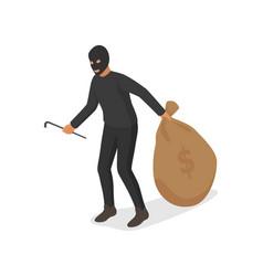 people money wealth criminal thief hacker vector image