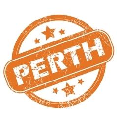 Perth round stamp vector