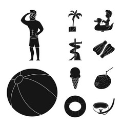 pool and swimming icon vector image