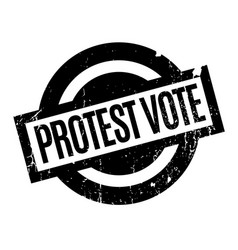 protest vote rubber stamp vector image