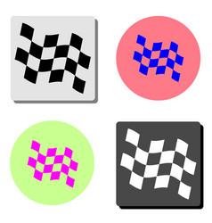 racing flag flat icon vector image
