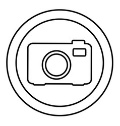 round symbol digital camera icon vector image