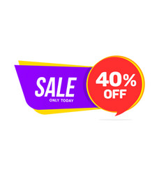Sale banner discount offer big sale 40 percent vector