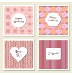 Set of delicate universal cards Geometric and vector image
