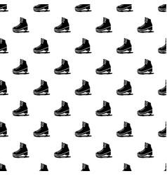 Skates ice pattern seamless vector