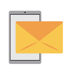 Smartphone email message mail vector
