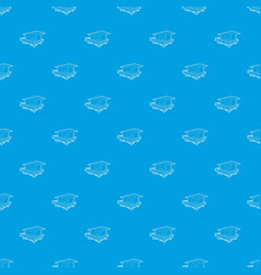 Stilt house pattern seamless blue vector