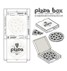 Stock design of boxes for pizza vector image