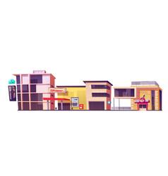 store buildings shop brand clothes supermarket vector image
