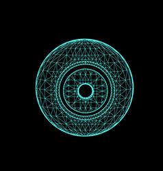 Sun planet responsible in astrology vector