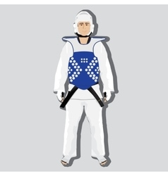 Taekwondo fighter vector