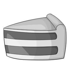 Tasty ice cream icon gray monochrome style vector