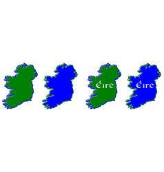 text irish translation of country name in celtic vector image