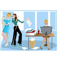 Three Girls In the Office vector