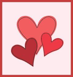 Three hearts vector