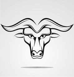 Tribal Buffalo Head vector image
