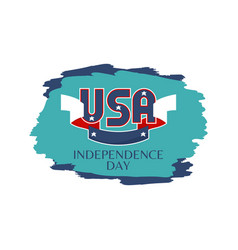 Usa independence day colorful vector