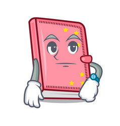 Waiting diary mascot cartoon style vector