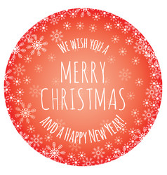 we wish you a merry christmas and a happy new year vector image