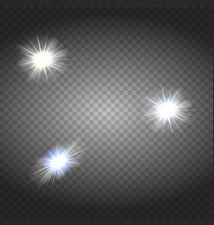 white glowing lights burst explosion vector image