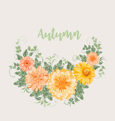yellow autumn flowers vector image