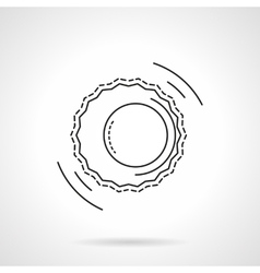 Astrology flat line design icon vector image