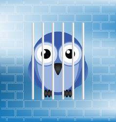 bird jailbird vector image vector image