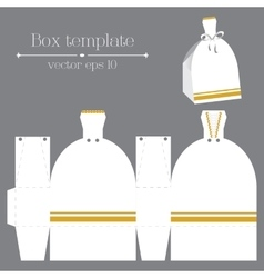 box template White glad rags vector image