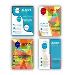 colorful flyer set vector image