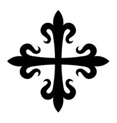 croix fleurdelisee vector image