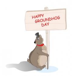 groundhog day background vector image