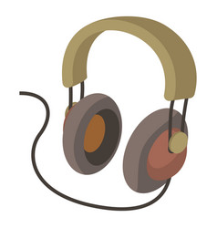headphone icon cartoon style vector image vector image