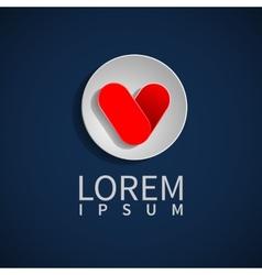 Hearts logo design Valentines Day vector image