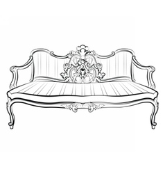 Imperial Royal Sofa vector image