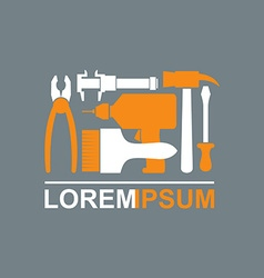 Logo of Construction tools Carpentry tools to vector image