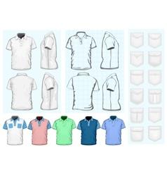 Mens polo-shirt design template vector image vector image