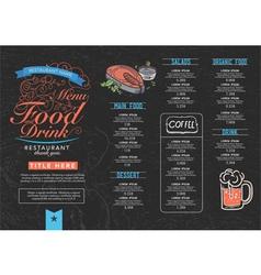 Restaurant cafe menu vector image