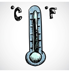 Thermometer Doodle style vector image