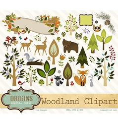 Woodland Clipart vector image