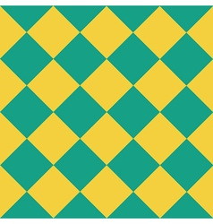 Yellow Green Chess Board Diamond Background vector image vector image