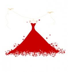 dress on hanger vector image vector image