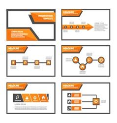 Orange presentation templates Infographic elements vector image vector image