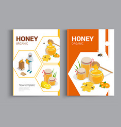 organic raw honey design brochure abstract vector image vector image