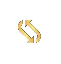 rotation computer symbol vector image vector image