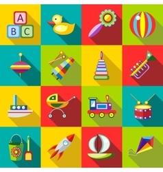 Set kids toys vector image