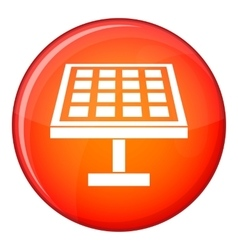 Solar energy panel icon flat style vector image