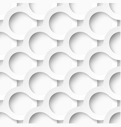 White circles with drop shadows vector image vector image