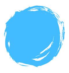 blue brush stroke circle shape vector image vector image