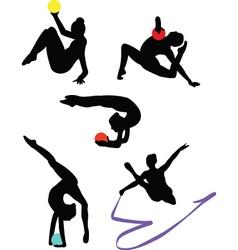 collection of gymnastics vector image