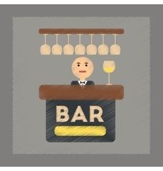 flat shading style icon bar bartender vector image